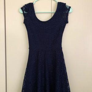 Navy blur lace dress